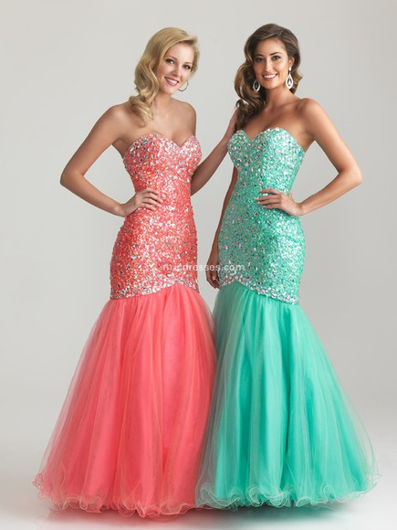 tulle trumpet/mermaid evening/homecoming dresses beading sweetheart