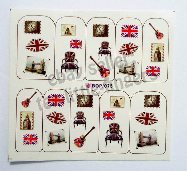 nail accessories nails manicure london england flag stripes nail polish