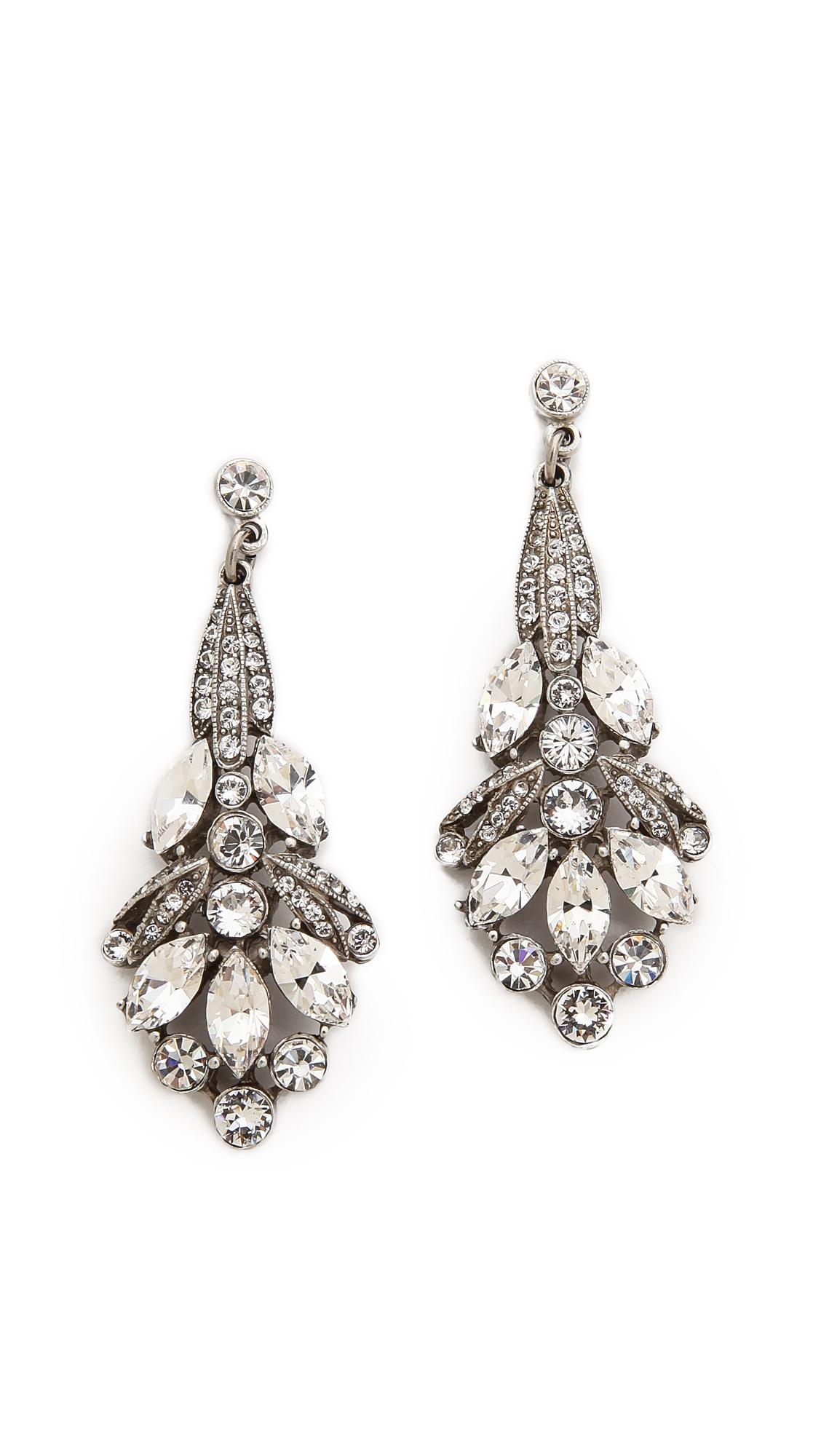 Amun crystal drop earrings