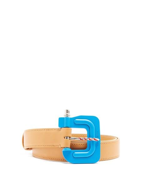 Balenciaga belt leather tan