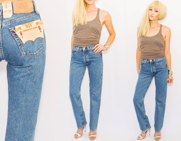 jeans levi 39 s vintage deadstock mom jeans vintage jeans levi strauss 501 deadstock levis. Black Bedroom Furniture Sets. Home Design Ideas