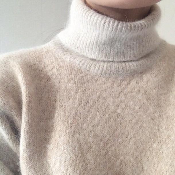 sweater high neck turtleneck sweatshirt winter outfits cashmere jumper white turtleneck turtleneck sweater comfy soft fuzzy sweater fluffy