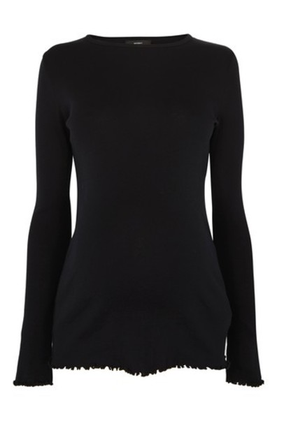 Topshop t-shirt shirt t-shirt long black top