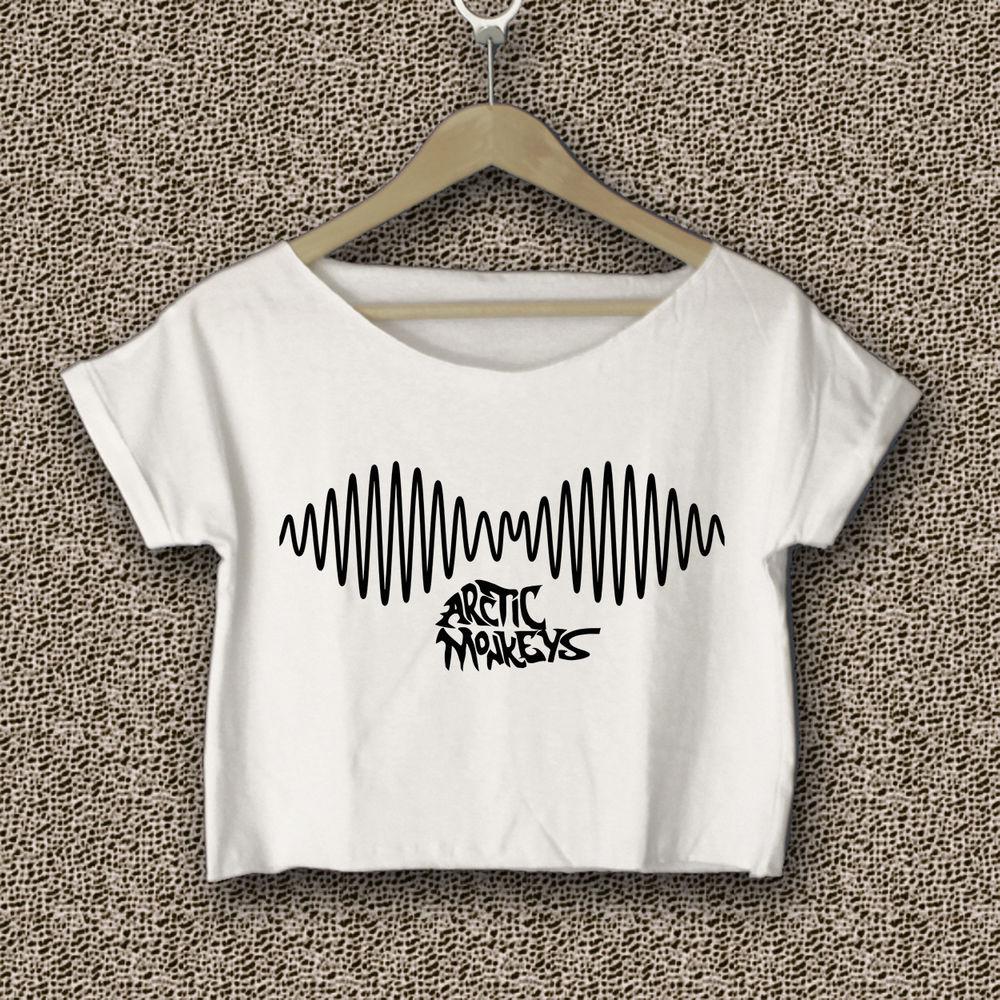 Arctic Monkeys Crop Tee Shirt Women White AM01 | eBay