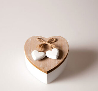 home accessory heart gift ideas cute wood storage romantic girly