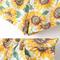 Vintage high waist sunflower print shorts|disheefashion