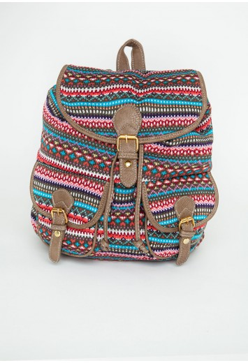 Missguided - Louetta Multi Coloured Knitted Backpack