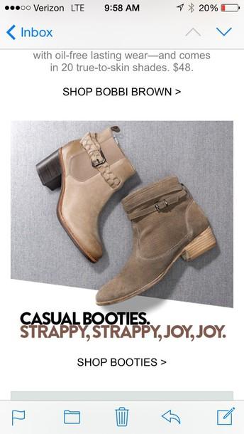 shoes tan beige booties