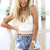 Blue Shorts - Blue Denim Cut-off Shorts with | UsTrendy