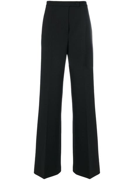Alberta Ferretti women spandex black wool pants