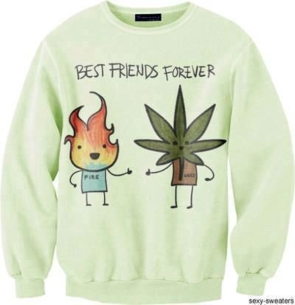 sweater weed green bff