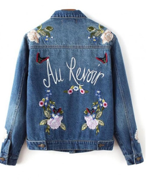 jacket denim denim jacket embroidered embroidered jacket