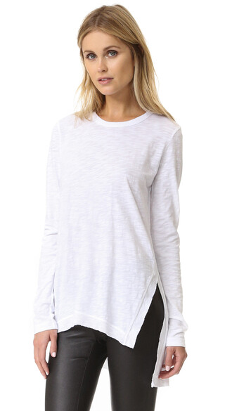tunic asymmetrical white top