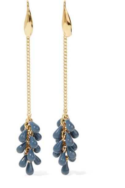 beaded earrings gold jewels