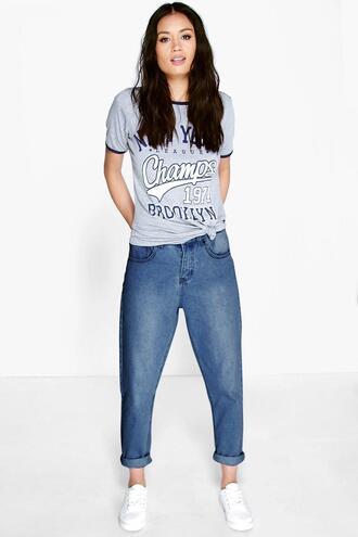 jeans washed denim mom jeans denim