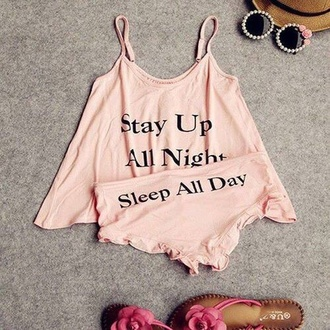 underwear sunglasses shirt shorts pajamas pink graphic tee graphic crop tops graphic crop top hat shoes top cute