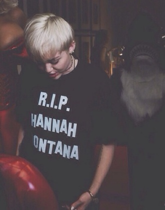 hannah montana rip tv shows black shirt miley cyrus fashion black