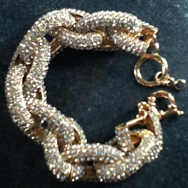 jewels chunky link bracelets cz crystal