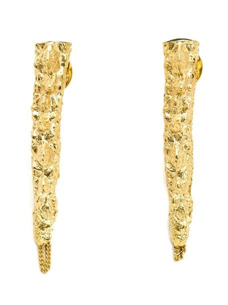 Henson earrings yellow orange jewels