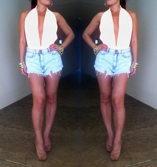 top white top bodysuit white bodysuit deep v neck bodysuit pleated bodysuit deep v white bodysuit deep v halter bodysuit deep v halter neck white bodysuit deep v halter neck bodysuit deep v halter neck white top