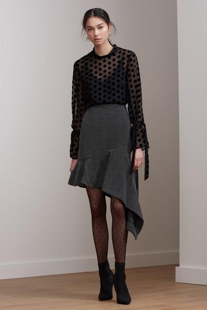 Keepsake skirt love light black