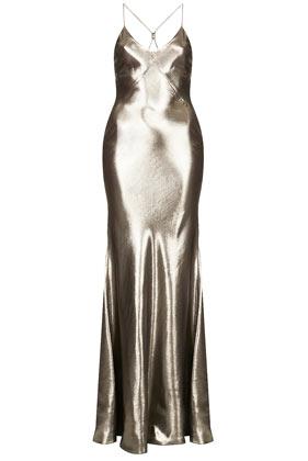 **Lamé Bias Cut Maxi Dress by Kate Moss for Topshop - Topshop USA