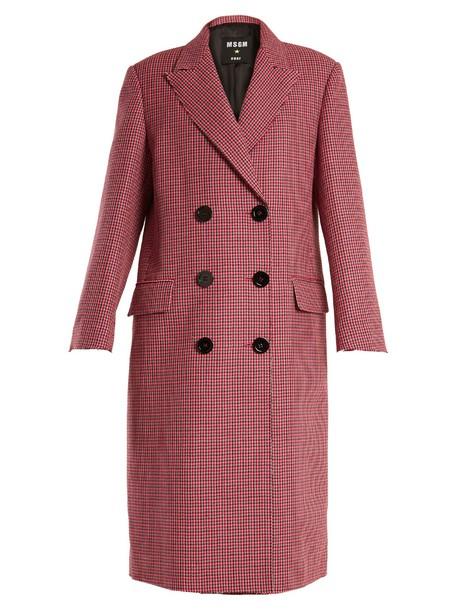 MSGM coat wool coat wool pink