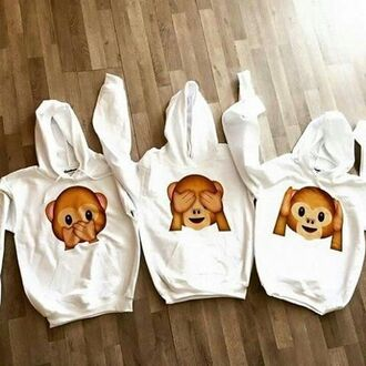 sweater monkey print cute fall outfits emoji print emoji shirt printed sweater animal