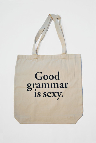 bag grammar sexy good white tote bag