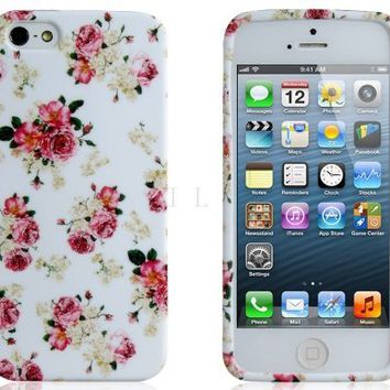 ETOU Floral Print TPU Rubber Case for iPhone 5 on Wanelo