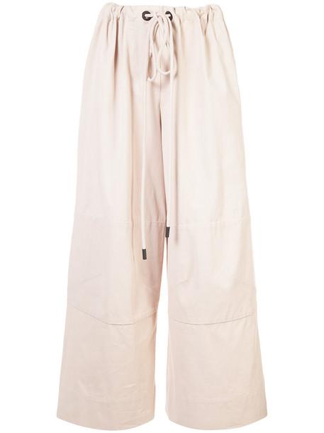 OSKLEN women cotton brown pants