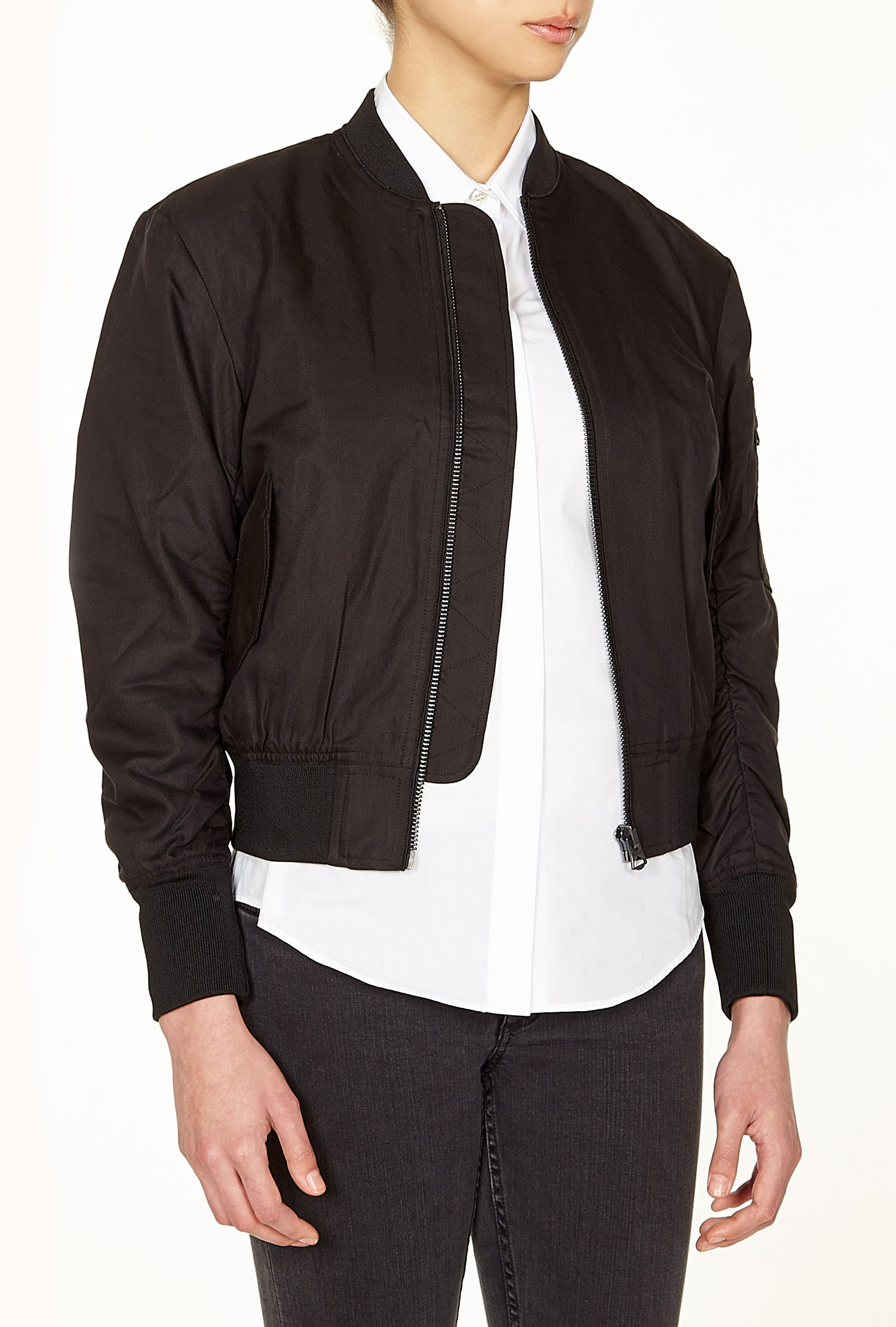 Acne | Encore Zip Up Bomber Jacket by Acne