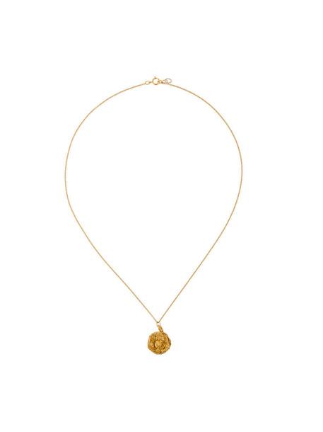 metal women necklace pendant gold grey metallic jewels