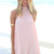 Pink Halter Dress - Pale Pink Pleated Halter Dress | UsTrendy