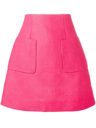 skirt mini skirt mini women cotton purple pink