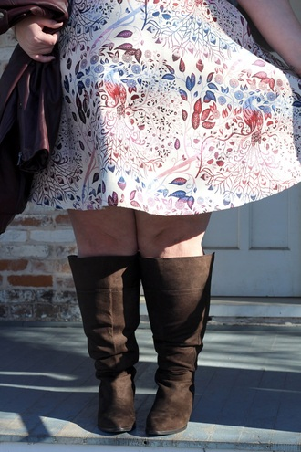 shoes brown boots plus size knee high boots