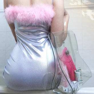 bag cute sweet kawaii joanna kuchta grunge soft grunge pink backpack american apparel fashion fashionista hipster blogger vintage charlie barker dress transparent  bag