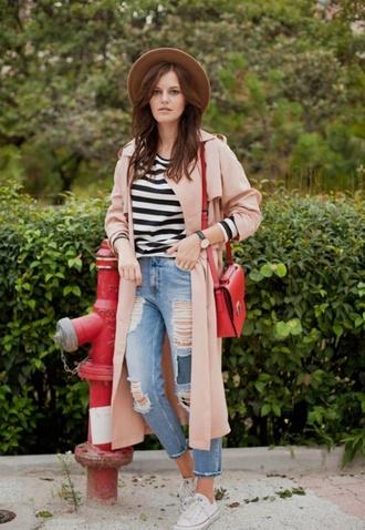 long coat beige style fashion jeans