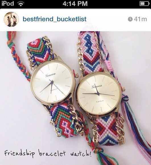 jewels friendship bracelet watch