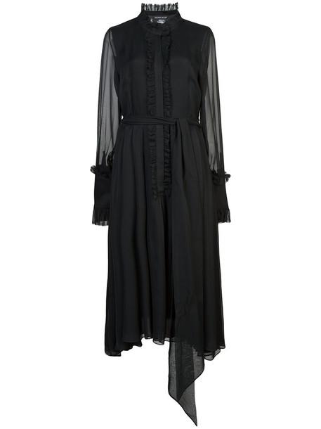 Thomas Wylde dress midi dress women midi black silk
