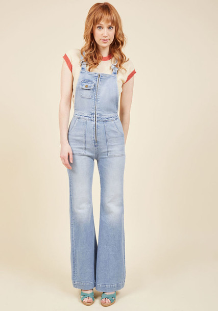 12181 overalls denim vintage straps light sassy blue jumpsuit