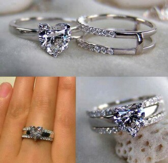 jewels ring heart promise engagement ring