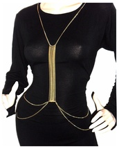 belt,necklace,gold,gold necklace,chain,slave chain,body chain,waist chain,boho,ethinic,body harness,harness