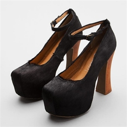 Lori's Shoes - The Sole of Chicago - Jeffrey Campbell - Jeffrey Campbell Elevator-F - Black Pony Fur