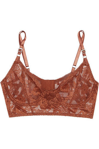 bra lace brown underwear