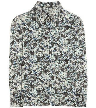 shirt printed shirt blue top