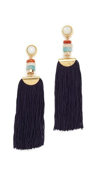 tassel earrings gold jewels