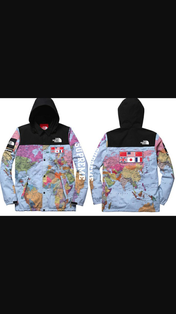ffc6476f1 The Northface / Supreme Expedition Coaches Jacket MAP Print