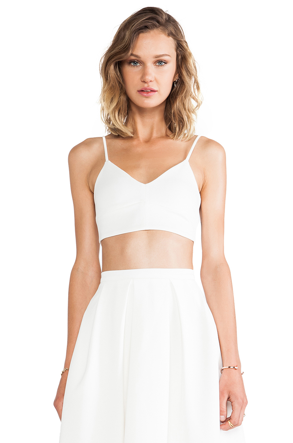 d.RA Desi Top in White from REVOLVEclothing.com