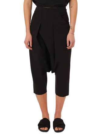 pants cropped pants pleated cropped black